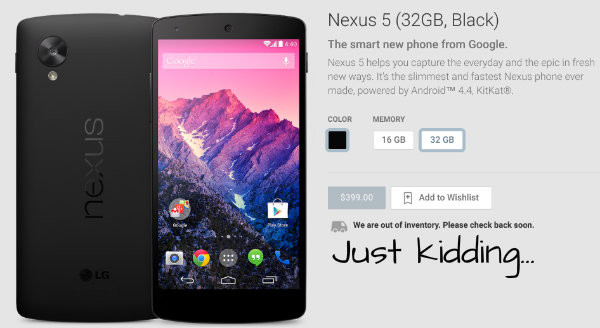 Nexus5inStock